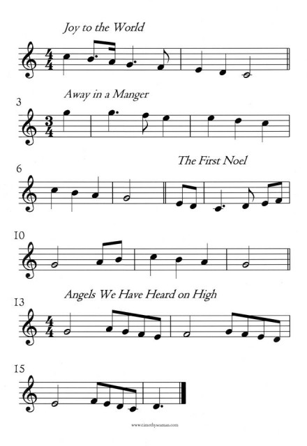 Practice scales with four Christmas carols!